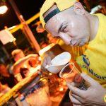 bar tender yellow night