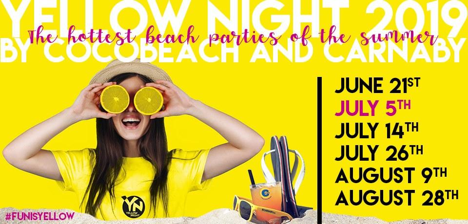 locandina yellow night 2019 Rimini