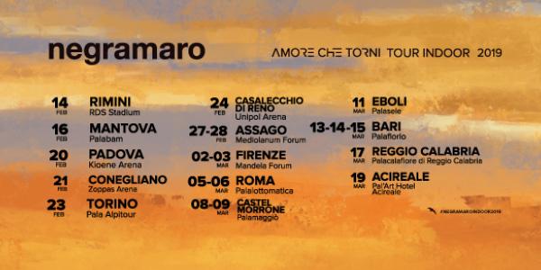 NEGRAMARO - AMORE CHE TORNI TOUR