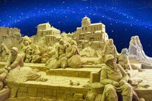 presepe di sabbia rimini